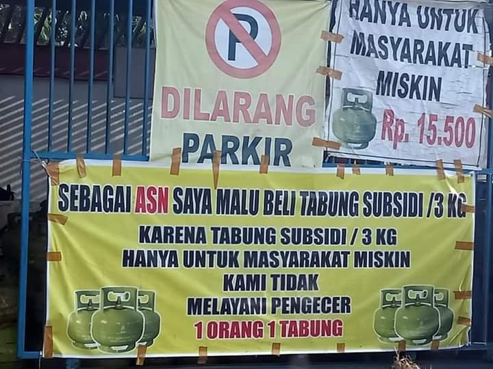 Spanduk Jual Gas 3 Kg - gambar contoh banners